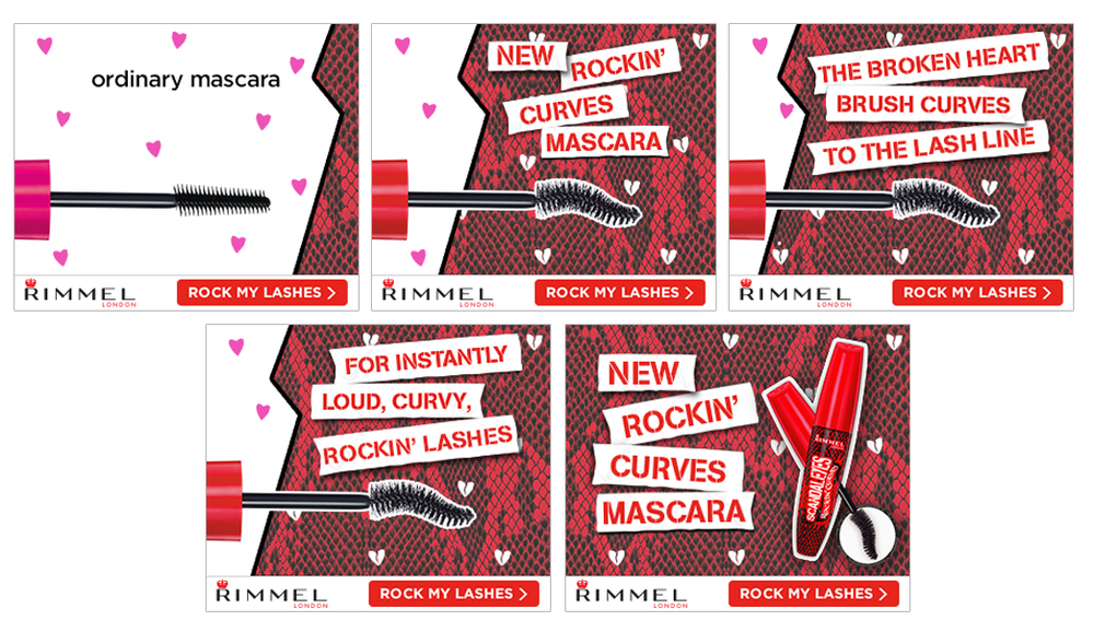 Rimmel Rockin' Curves Animated Banner