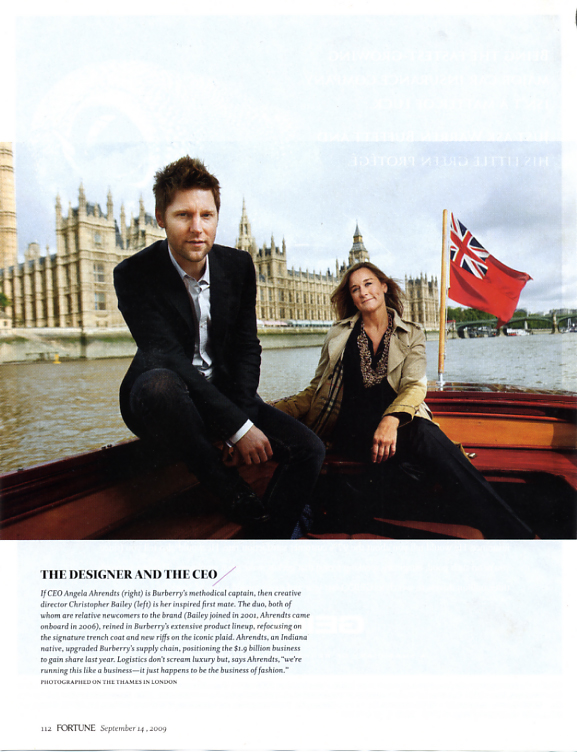 Christopher Bailey + Angela Ahrendts