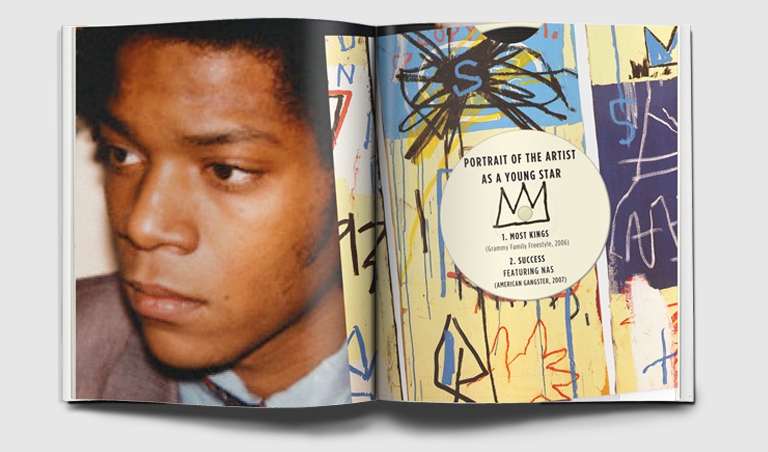 Jean-Michel Basquiat Portrait: Andy Warhol  Painting: Jean-Michel Basquiat, Charles The First, 1982