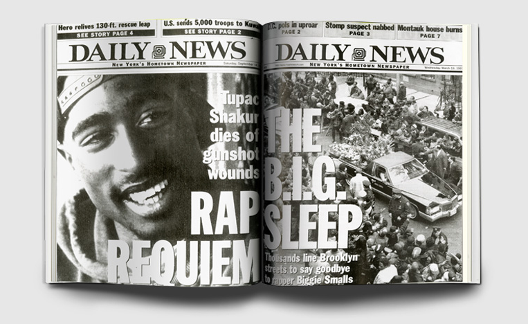 New York Daily News, Tupac: Getty Images  New York Daily News, Notorious B.I.G.: Getty Images