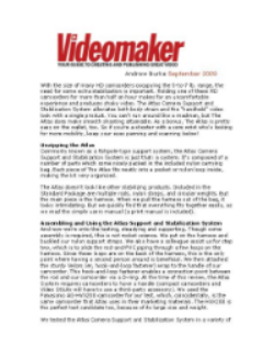 Complete review at  videomaker.com