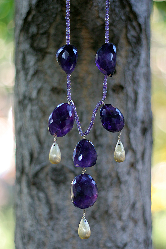 Gold Vermeli, Amethyst Necklace