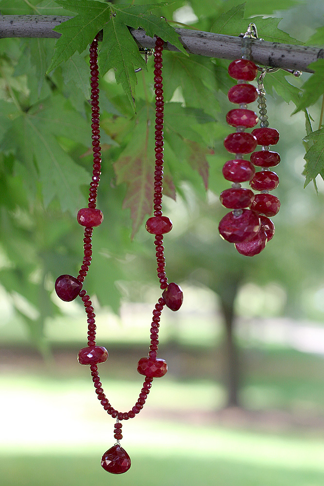 Ruby necklace and bracelet