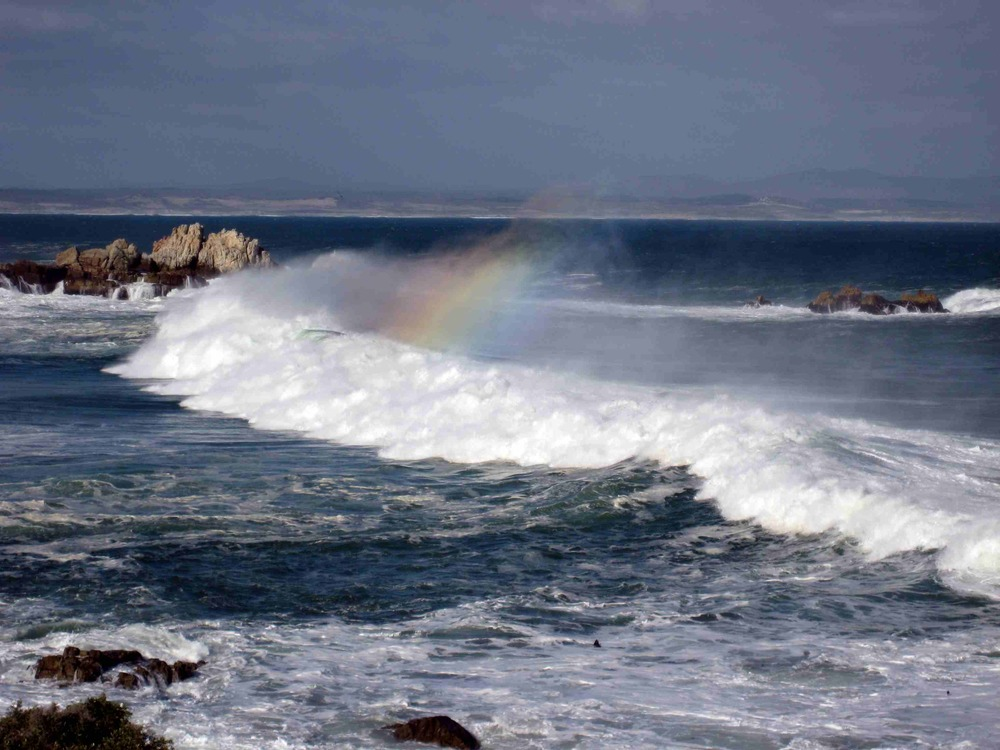 A rainbow along the coast of Hermanus, South Africa