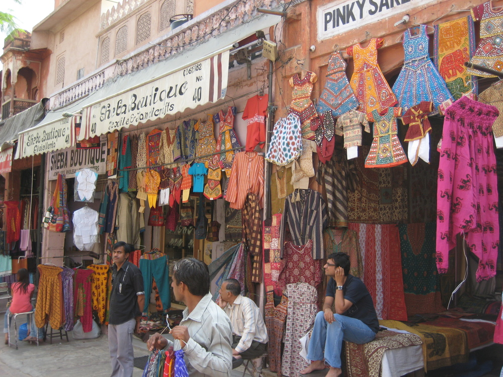 Colorful shopping street, Jaipur