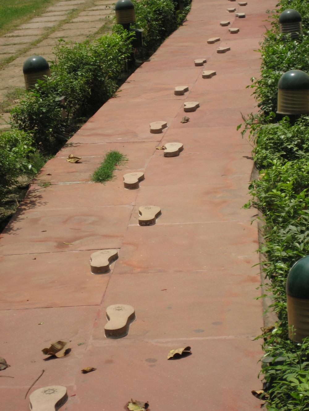 Ghandi's last steps, New Delhi