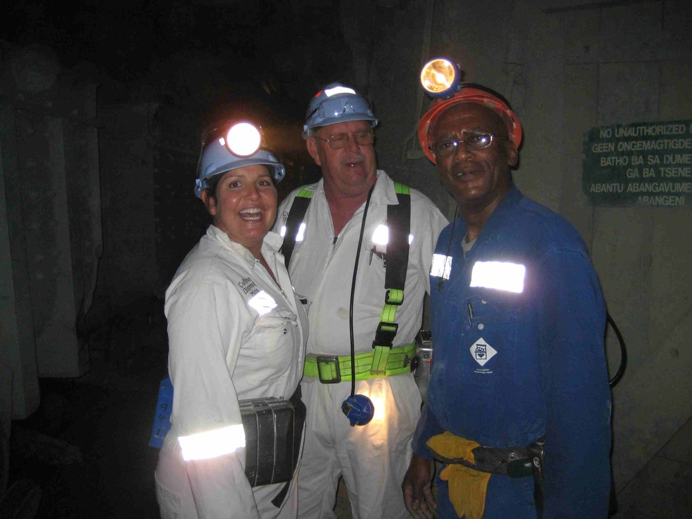 Learning about Diamond mining from the miners in Cullinan Diamond Mine, South Africa