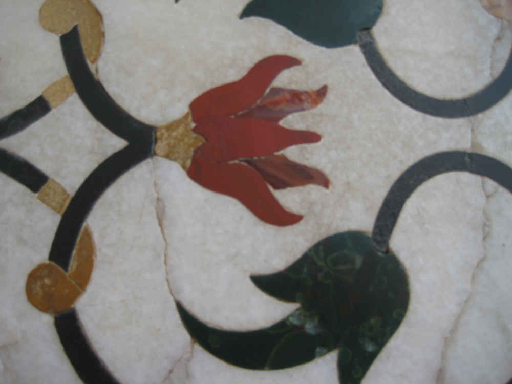 Stone inlay on the Taj Mahal