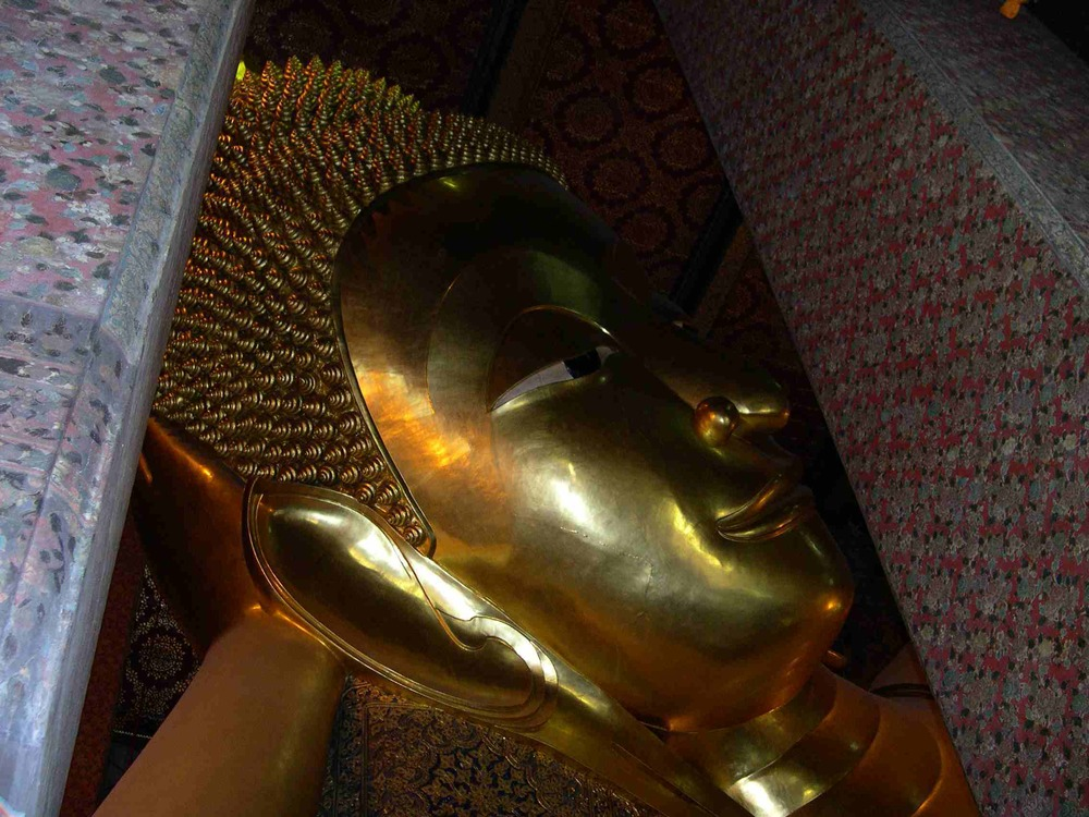 The Reclining Buddha in Wat Po, Bangkok, Thailand