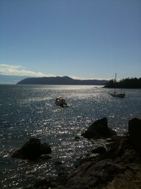 View from the shore on Orcas Island