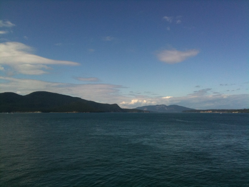 View fromt he ferry going to Orcas Island
