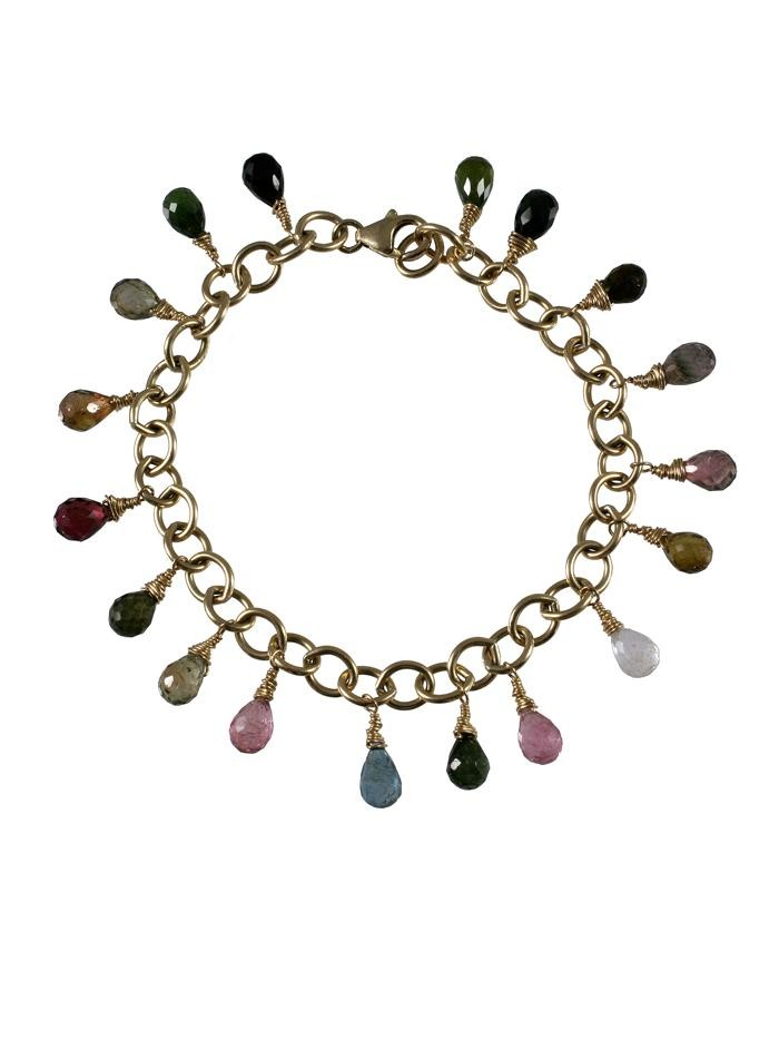 Gold Filled Tourmaline Gilli Bracelet