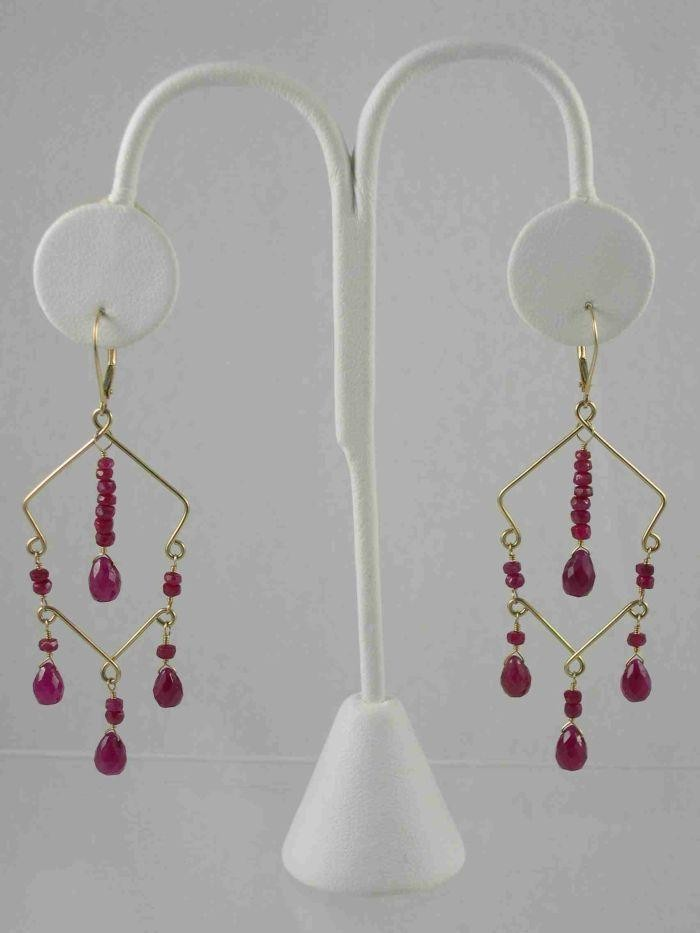 Sarilicious Earrings - Ruby, 14K Gold $275