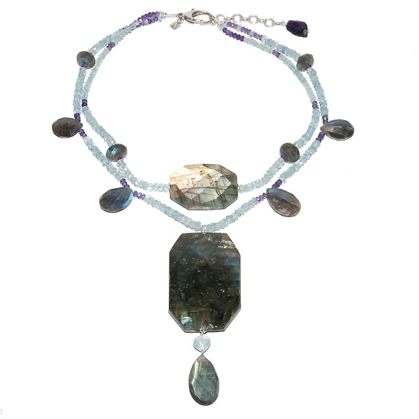 Labradorite and Aquamarine $325