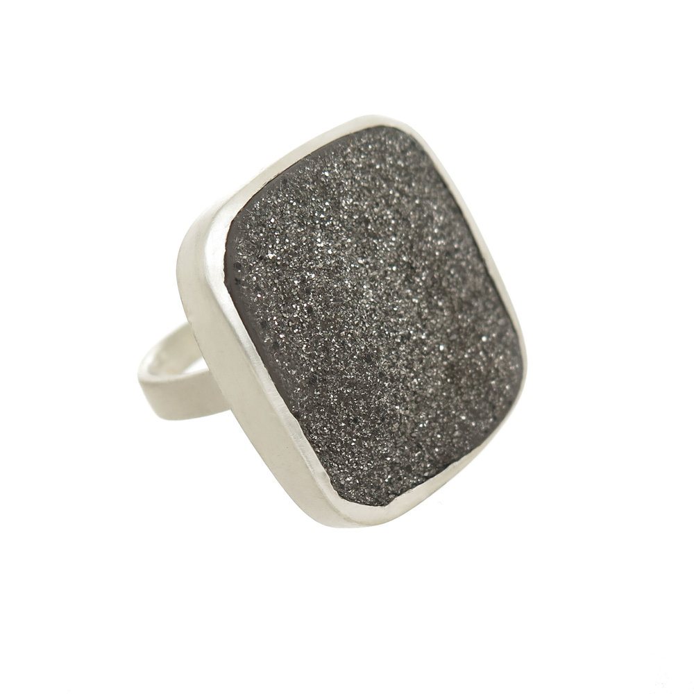 Sterling Silver Large Terra Ring $385