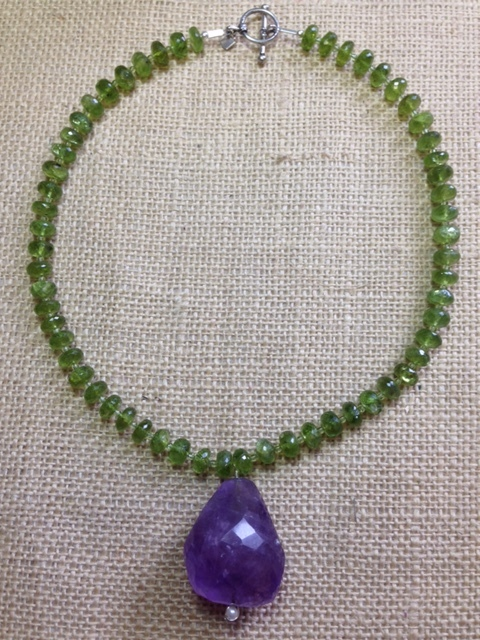 Peridot and Amethyst $285