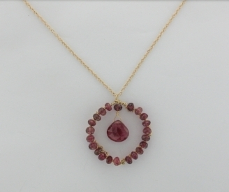Pink Tourmaline and 14K gold $285