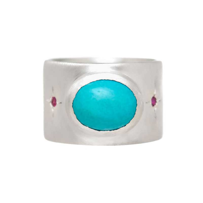Turquoise with Ruby accents $425