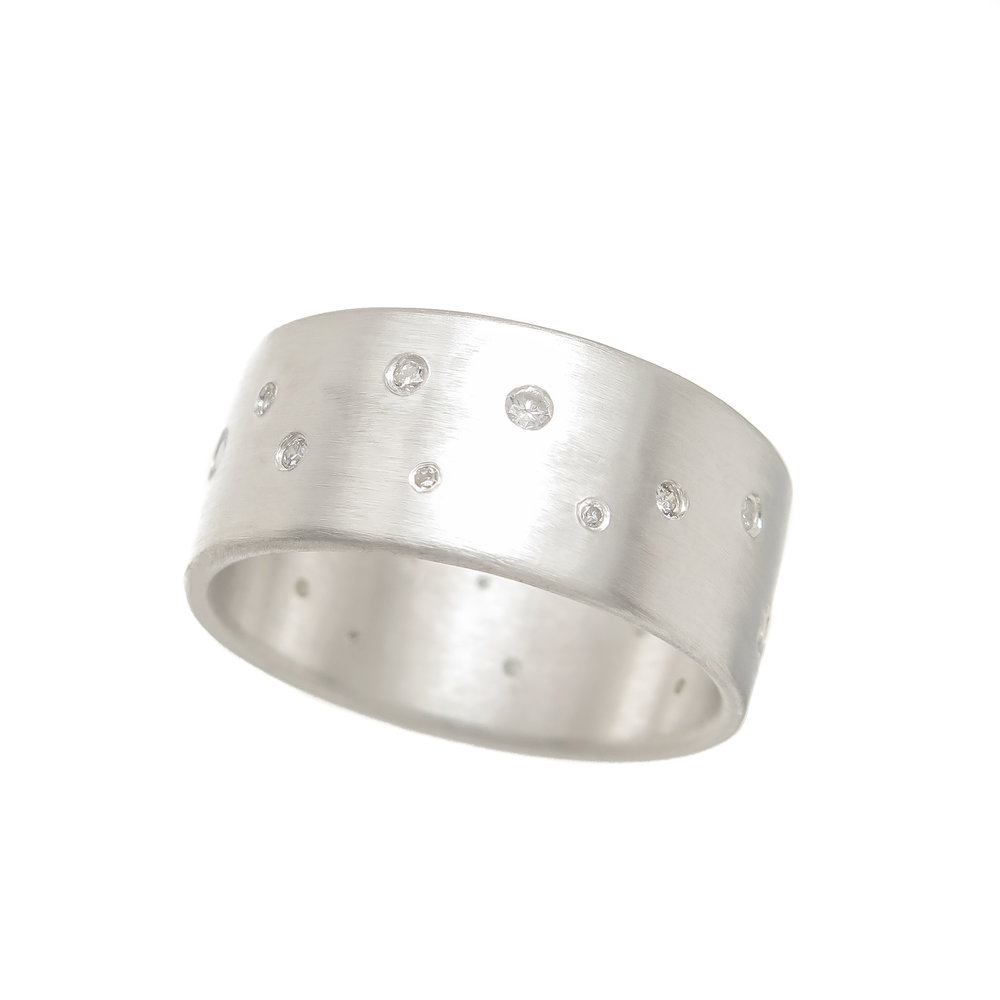 Celestial Sparkle Ring- Diamonds, Sterling Silver. Approx. $545