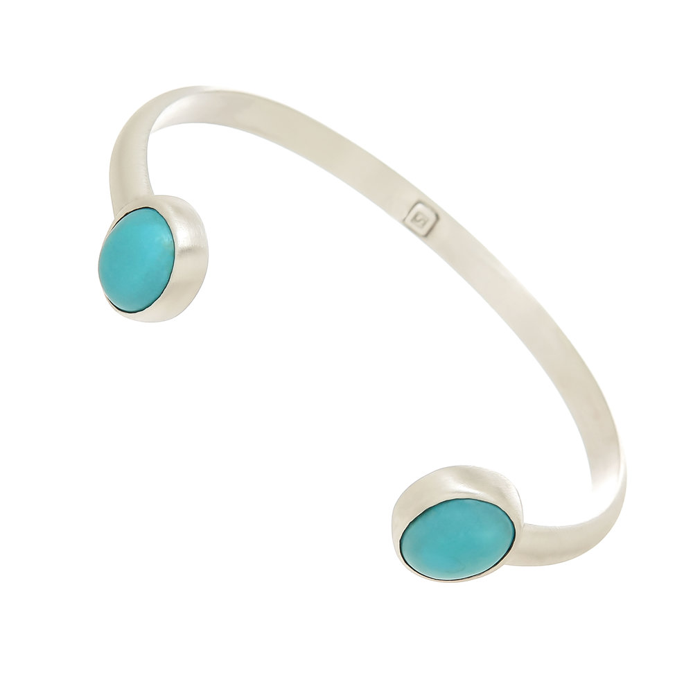 Sleeping Beauty Turquoise and Silver Cuff Bracelet $445