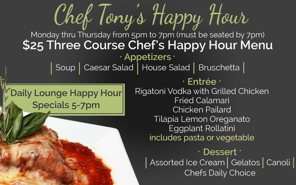 Tony Colombos Chef Happy Hour
