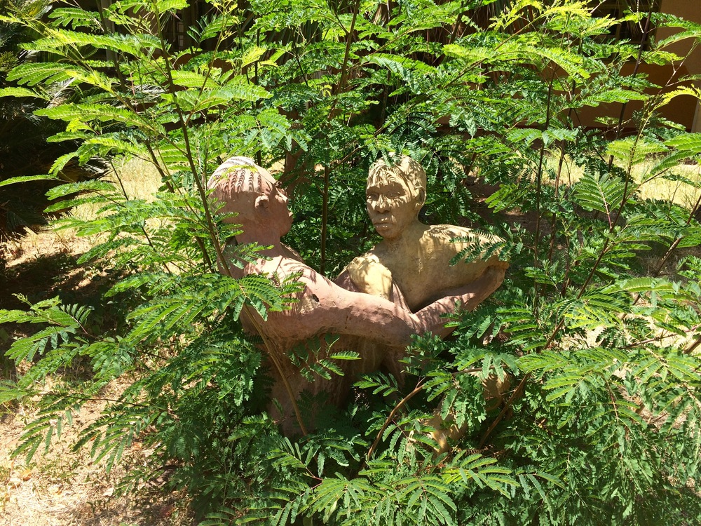 Sculptures at the Molepolole College of Education in Molepolole, Botswana