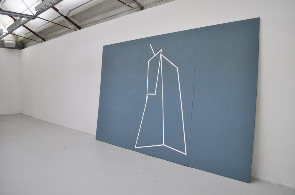 All of the ways in which we differ/Man with Hoe                     MDF, emulsion                           2014