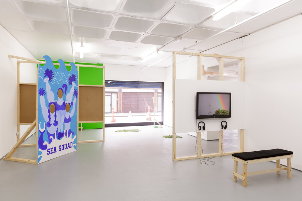 Installation view, 'You're Surrounded By Me' at Turf Projects, 29th July-9th September 2017