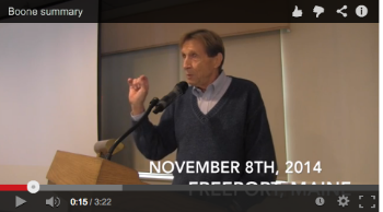 Jon Boone addresses FMM's annual summit, November, 2014