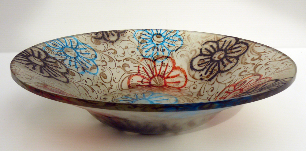 Ingrid Hunter - flared bowl - swirls.jpg