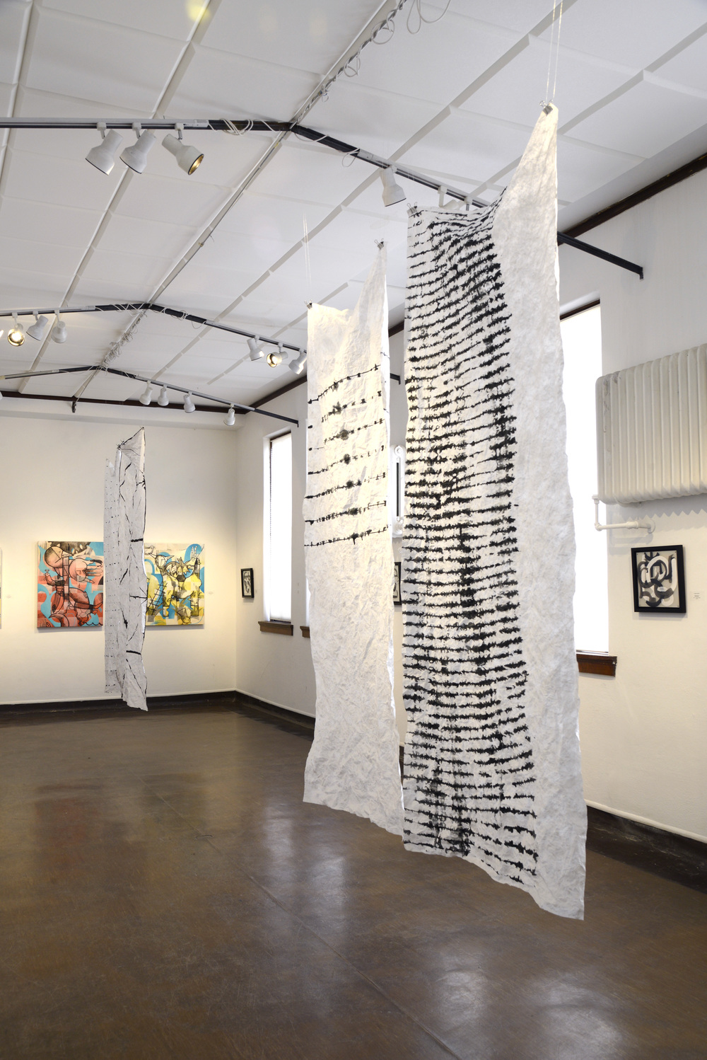 "Installed in ""Finding Reason"", April 2014 The Harwood Art Center, Albuquerque, New Mexico"