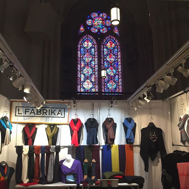 Cathedral Craft in NYC. Beautiful day today! Time to shop for Christmas.  Booth C15. LFABRIKA with love ❤️
