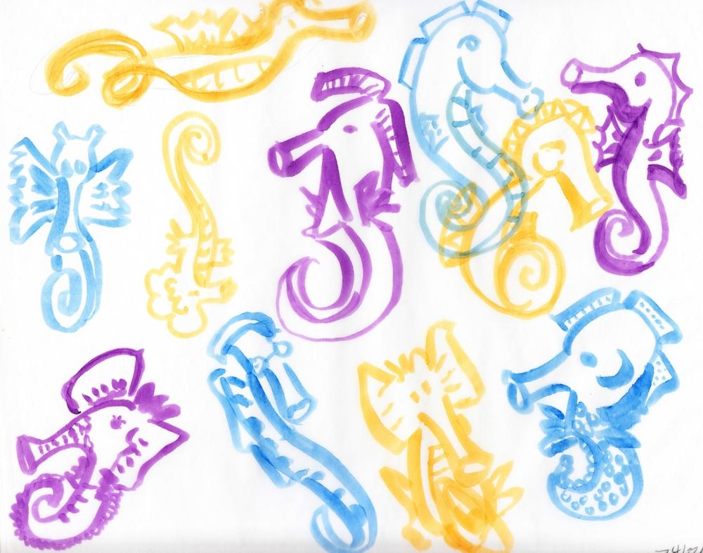 Cutie-inspired Seahorses