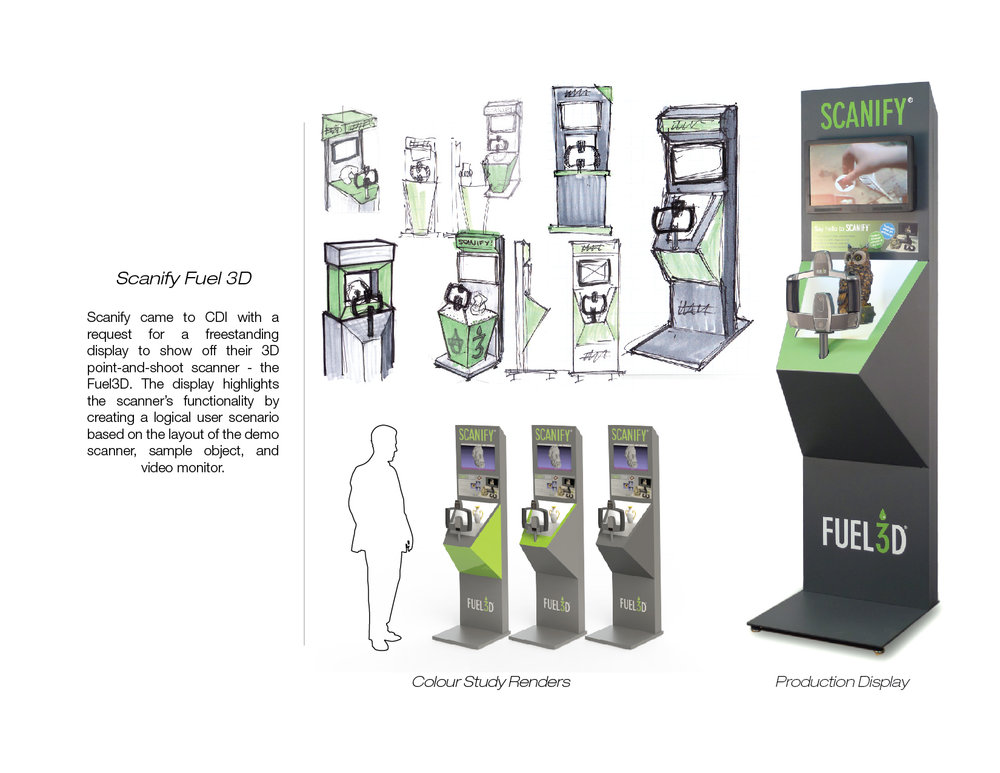 Scanify Fuel 3D Freestanding Display-  concept design and engineering