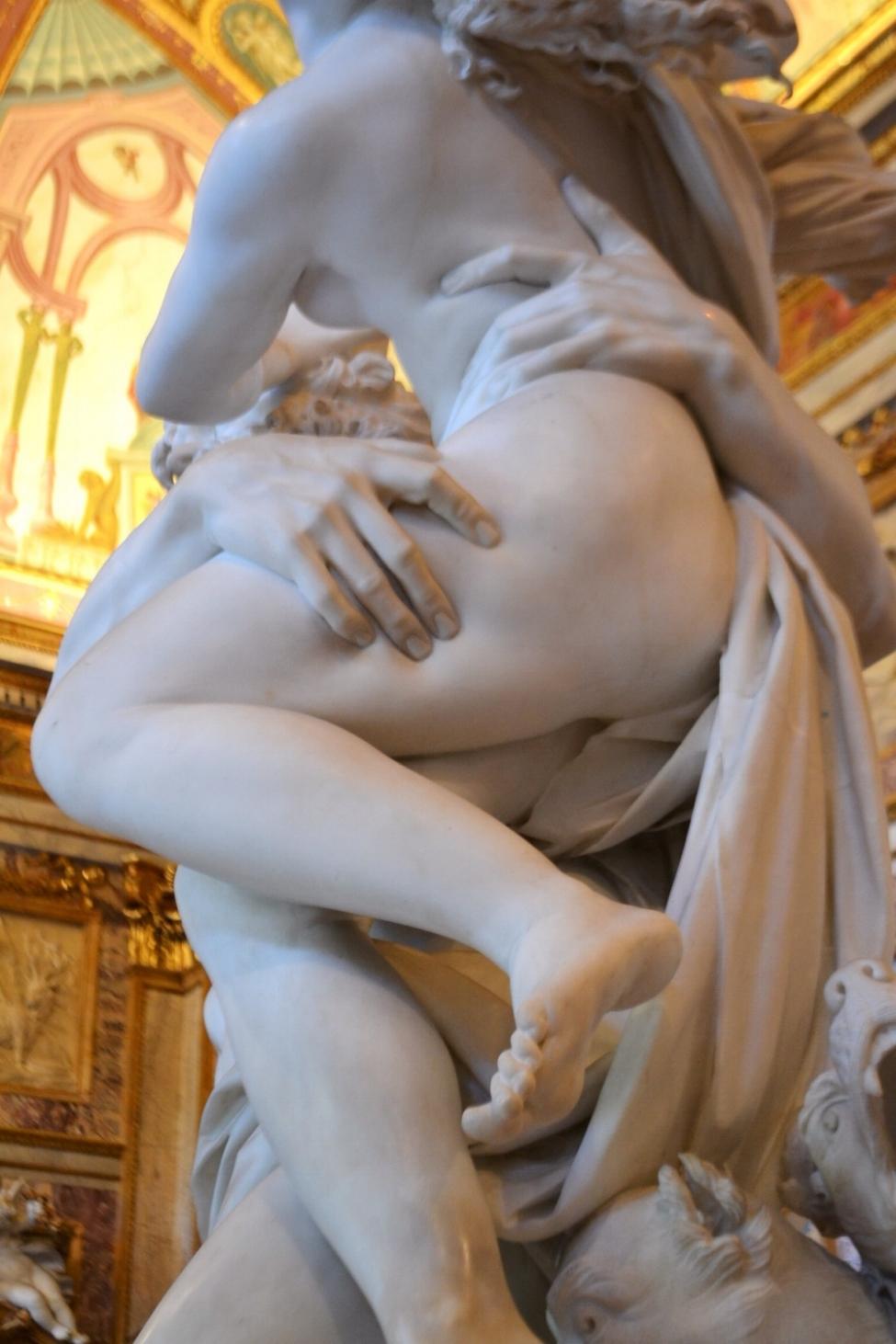 """proserpina and pluto, in gian lorenzo bernini's """"the rape of proserpina"""""""