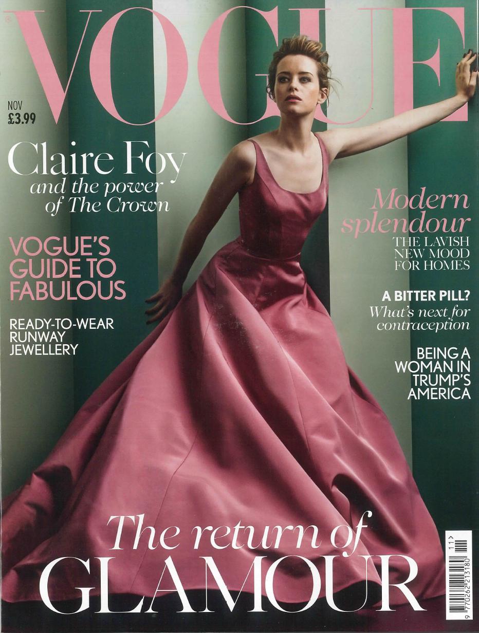 YU STEPANEL in British Vogue, November 2017
