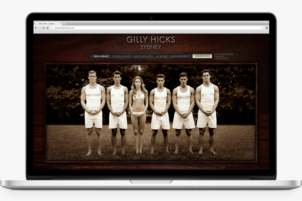 GillyHicks.com - Early Concept -  2008