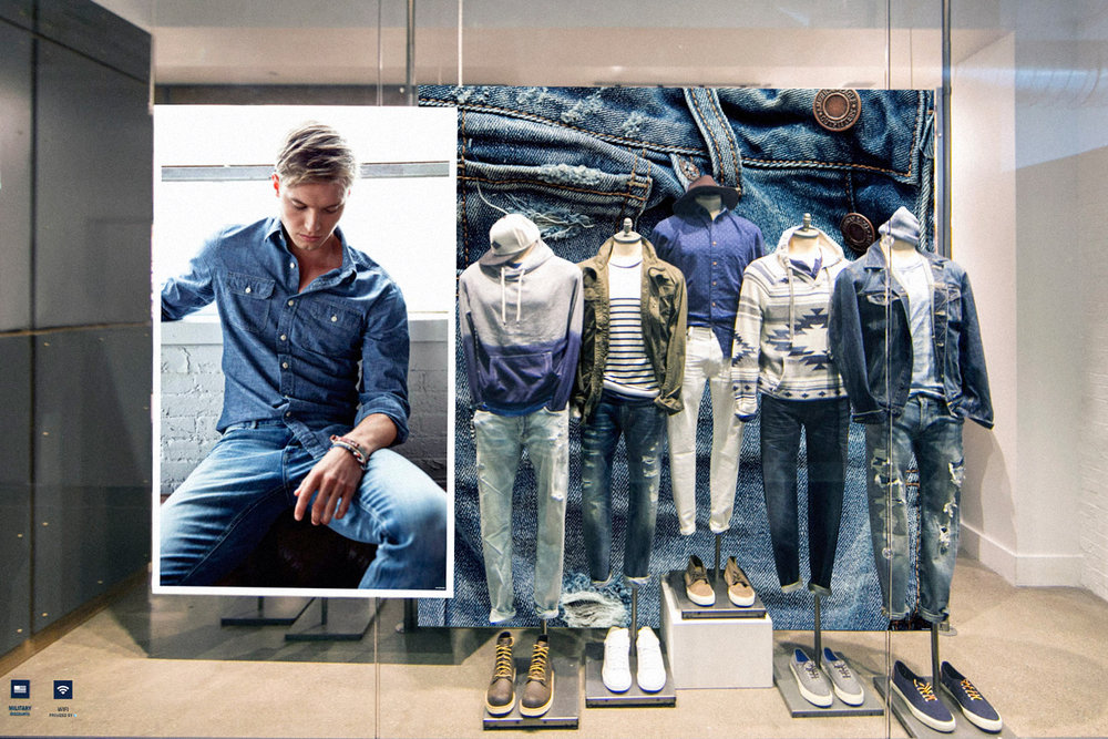 AEO Men's Window Display