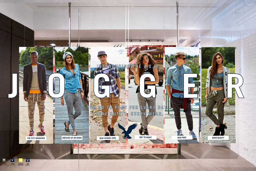 AEO Jogger Window Display