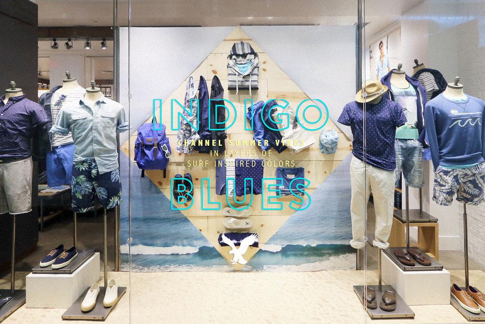 AEO Men's Indigo Story Display