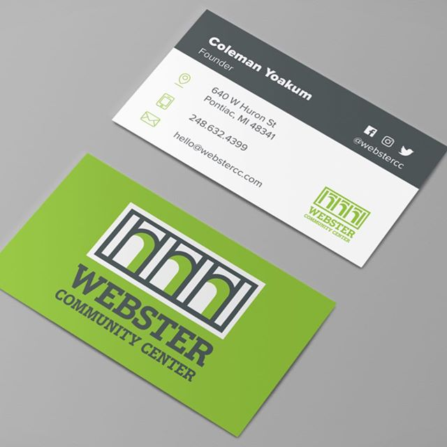 Another brand identity choice seen on business card designs by Rachel, David and Michael.