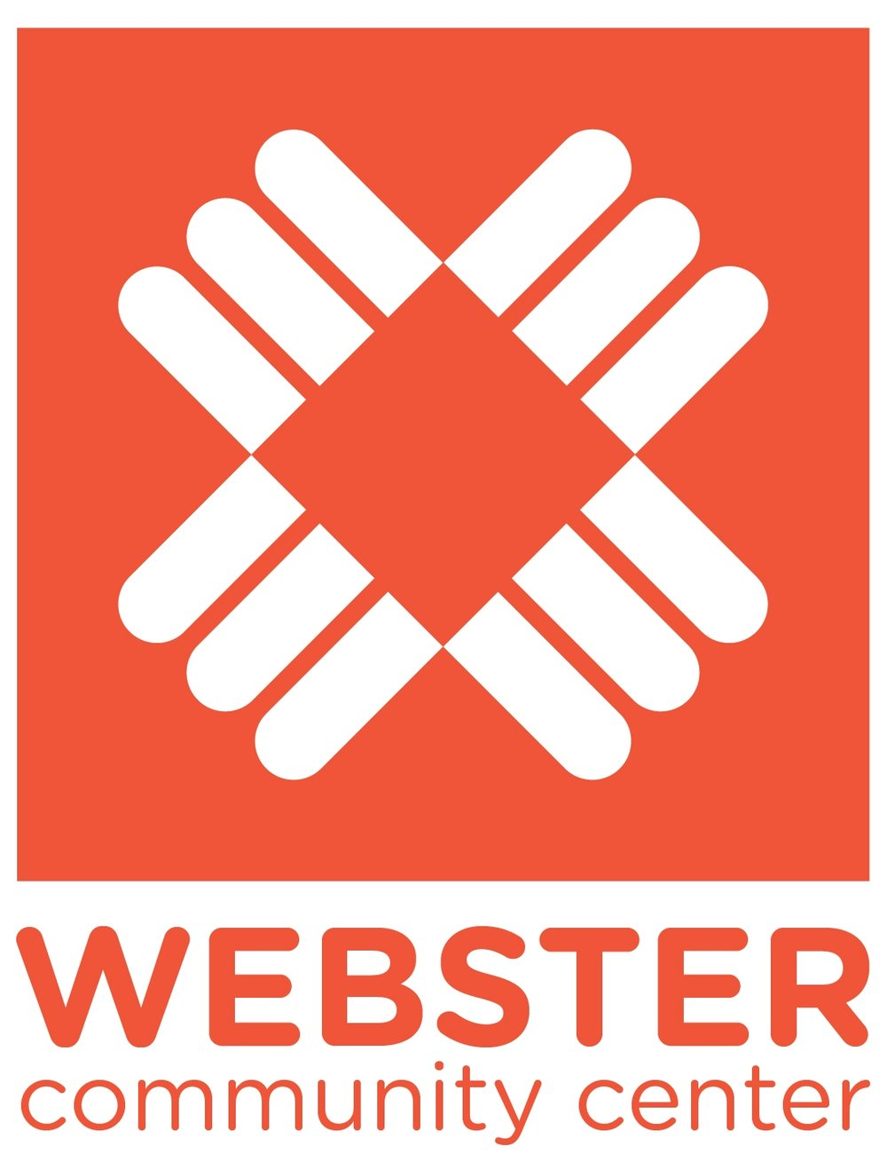 Webster Community Center logo designed by Piper Lehto, Zak Plaxton and Elizabeth Suchocki.