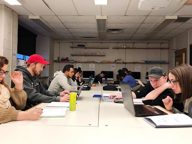 "Students are getting prepped this morning for their first client meeting of the semester with @shakespeareindetroit. Looking forward to using graphic design to aid in their mission to ""enhance and support the cultural, educational and financial growth of Detroit with professional theatre created through a conscious lens of equity, diversity and inclusion."" #thisisou"