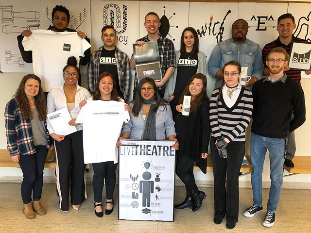 First final client presentation for @shakespeareindetroit in the books! 👏 Want to see what the students presented? Follow along this week, as we'll be sharing samples from everyone's final designs for a new branding project for the organization. #thisisou