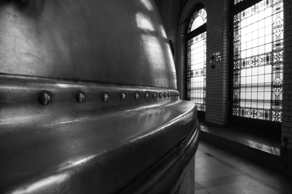 Long view of a wort kettle