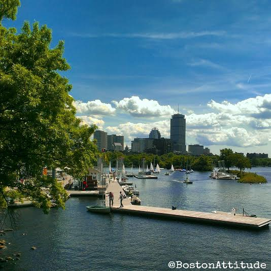 Sailing in the Charles River                                              Photo by John  @BostonAtiitude