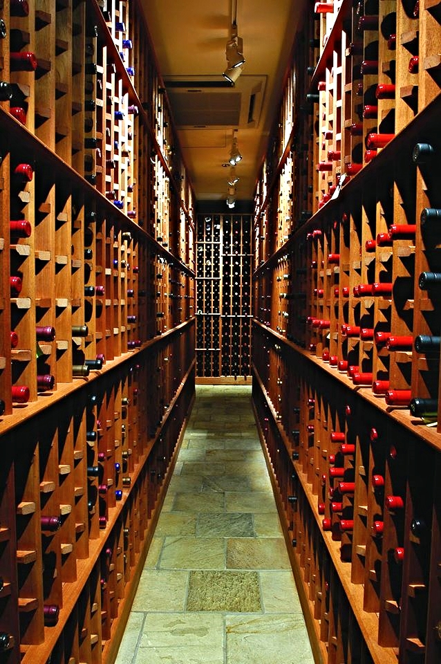 [the wine cellar at Park Square]  Photo from the Legal Seafood Facebook Page