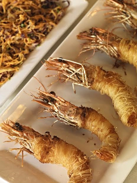 Crispy Shrimp, Italian slaw and cherry pepper aioli