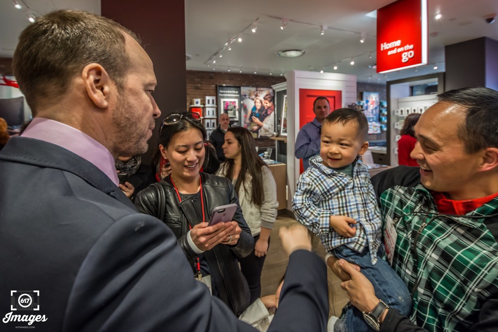 Donnie Wahlberg meeting some of his new fans.