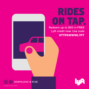 Click to expense redeem $50 FREE Lyft credit to new users